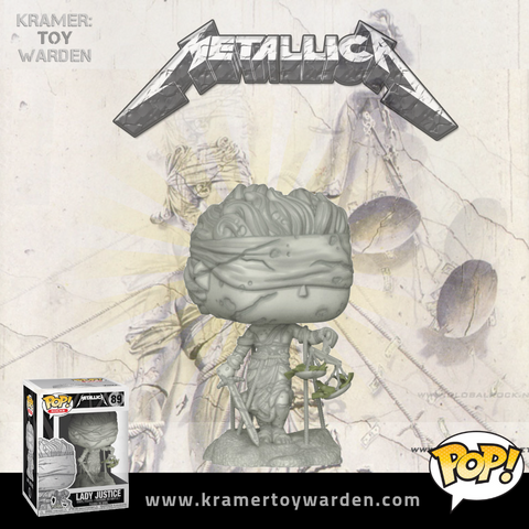 Pop! Rocks: Metallica - Lady Justice Vinyl Figures POP METALLICA