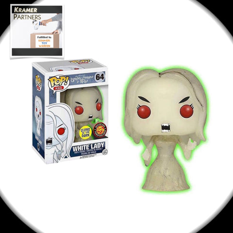 Pop! Asia WHITE LADY Funko Vinyl Figure 2015  Exclusive GITD