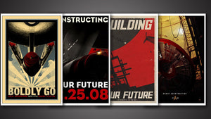 Star Trek Poster Set - Retro
