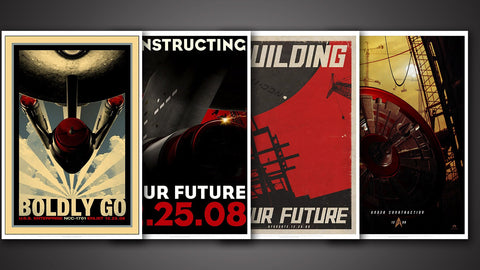 Star Trek Retro Movie Posters - Set of 4