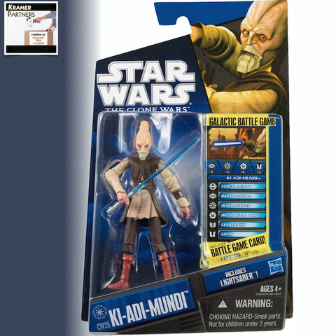 "Star Wars The Clone Wars KI-ADI-MUNDI 3.75"" Action Figure - CW25"