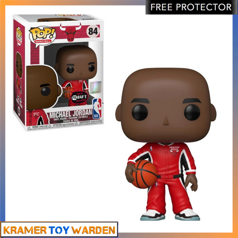 NBA Michael Jordan (RED WARM-UPS) Pop! Vinyl Figure Exclusive