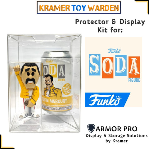 Armor Pro Funko Soda Protector and Display Kit 2-piece hard case PET Boxes Set