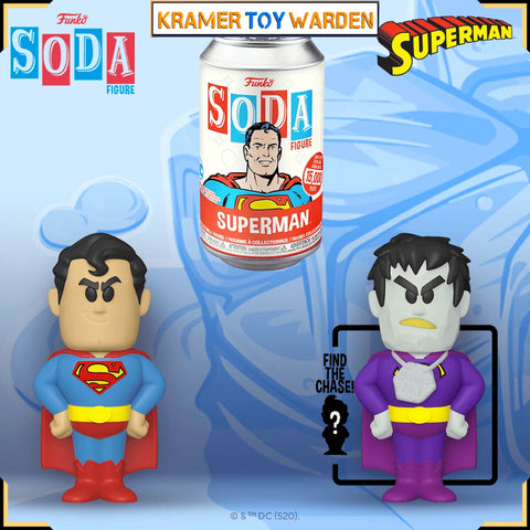 Superman Vinyl Soda with Chance to Get Chase