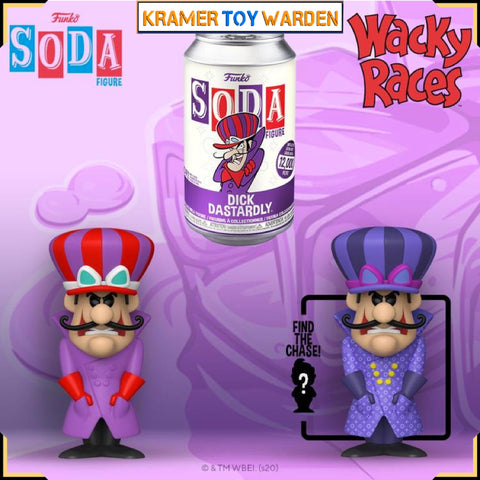 Hanna Barbera Dick Dastardly Vinyl Soda with Chance to Get Chase