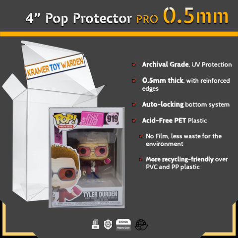 "Funko Pop! Protector Pro 0.5mm for 4"" Pops (Singles)"