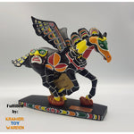 "Westland Giftware Horse of a Different Color THUNDERBIRD TOTEM 6"" Premium Resin Statue"