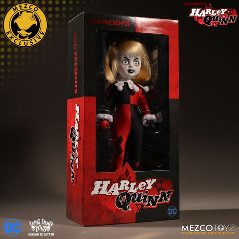 Mezco SDCC 2017 Exclusive #2: LDD Classic Harley Quinn Unmasked Doll