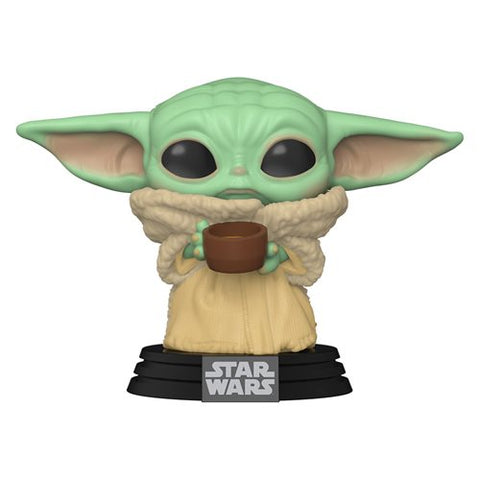 Preorder Star Wars: The Mandalorian The Child with Cup Pop! Vinyl Figure PO P550