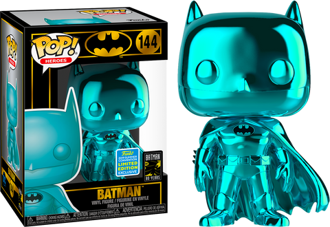 Batman Teal Chrome Pop! Vinyl Figure 2019 Summer Convention Exclusive