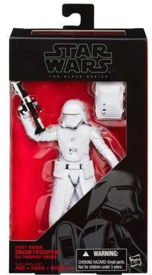 "Star Wars Black 6"" E7 FIRST ORDER SNOWTROOPER"