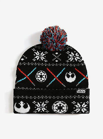Star Wars Fair Isle Lightsaber Beanie