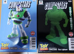 ComicStars Toy Story BUZZ LIGHTYEAR - A (colored) & B (GITD) Statue Figure Set