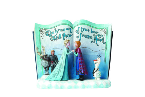 "Disney Traditions FROZEN Storybook ""Act of Love"" Statue Figurine Diorama"
