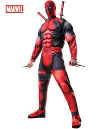 Mens Deluxe Deadpool Muscle Chest Costume