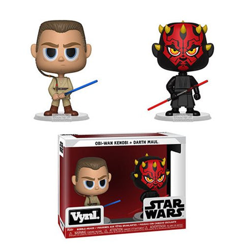 Star Wars Darth Maul and Obi Wan VYNL Figure 2-Pack