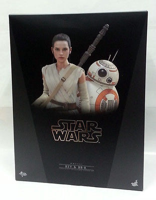 Hot Toys Star Wars: Rey BB-8 Star Wars The Force Awakens 1:6 Scale MMS337 Figure Brand New