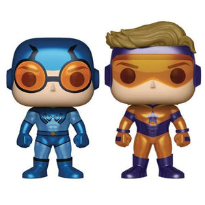 DC Comics Booster Gold and Blue Beetle Metallic Version Pop! Vinyl Figure 2-Pack - Previews Exclusive