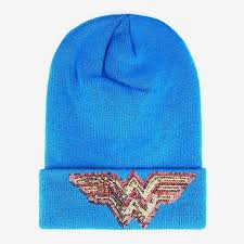 DC Comics Wonder Woman Sequin Watchman Beanie