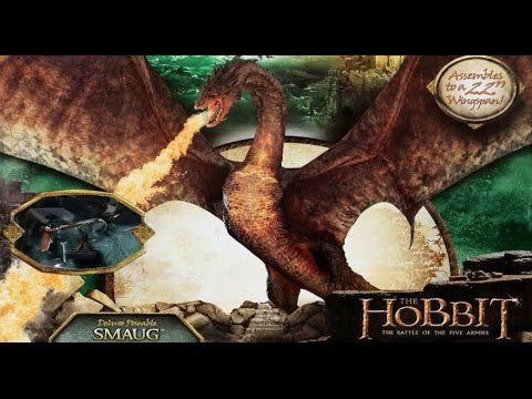 Smaug Dragon The Hobbit The Battles of Five Armies Poseable action figure