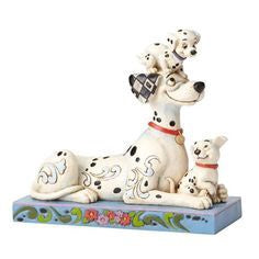 Disney Enesco Traditions Pongo with Penny and Rol 101 Dalmatian Puppies Statue