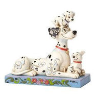 Disney Traditions Pongo with Penny and Rol 101 Dalmatian Puppies Statue