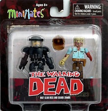 Minimates The Walking Dead Riot Gear Rick and Guard Zombie 2-Pack