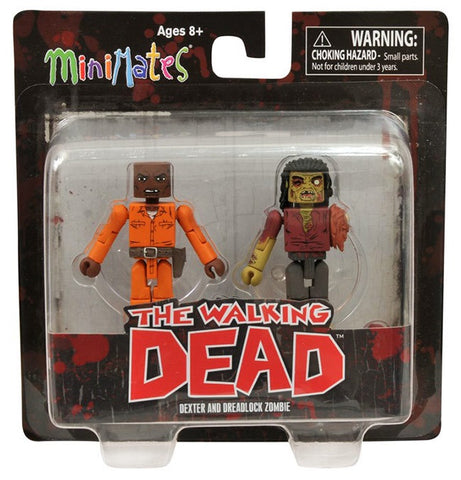 Minimates The Walking Dead Dexter and Dreadlock Zombie 2-Pack