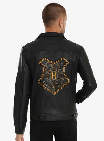 Harry Potter Hogwarts Crest Denim Jacket LG- BoxLunch Exclusive