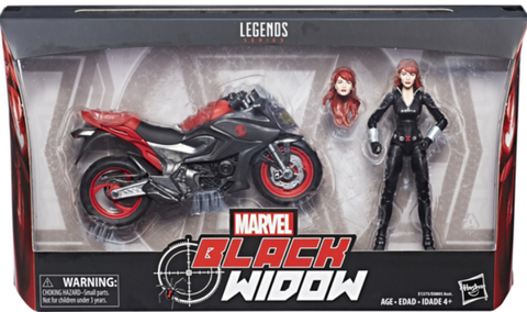 Marvel Legends 6 inch Action Figure Black Widow with Vehicle