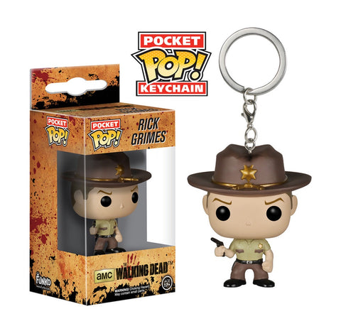 Funko The Walking Dead Rick Grimes Pocket Pop! Vinyl Figure Key Chain Kramer Toy Warden Greenhills, Alabang Mall, Philippines