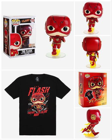 Flash Boxlunch Exclusive Funko Collector Boxset w/ T-Shirt (S)