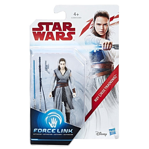 "Star Wars Force Link Rey Jedi Training 3.75"" Action Figure"