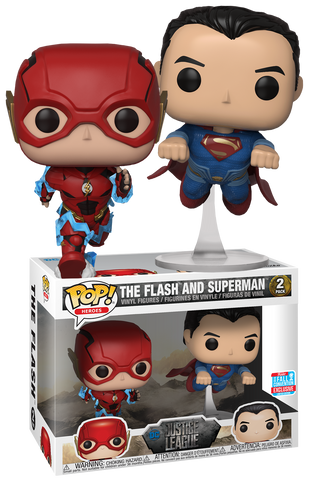 Funko Justice League The Flash & Superman Racing Pop! Vinyl Figure 2-Pack 2018 Fall Convention Exclusive Kramer Toy Warden Greenhills, Alabang Mall, Philippines
