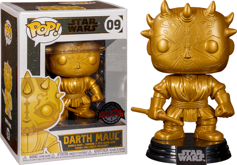 Star Wars - Darth Maul Metallic Gold Pop! Vinyl Figure Exclusive