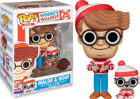 Where's Waldo? - Wally with Woof Pop! Vinyl Figure Exclusive