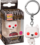 Game of Thrones - Ghost Flocked Pocket Pop! Vinyl Keychain Exclusive