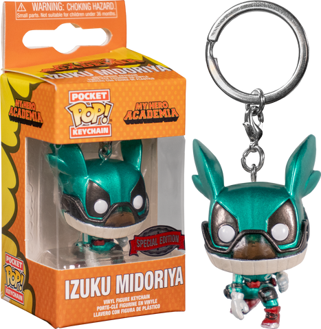 My Hero Academia - Izuku Midoriya (Deku with Helmet) Metallic Pocket Pop! Vinyl Keychain
