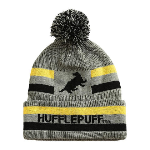 Harry Potter Hufflepuff Pom Stripe Beanie