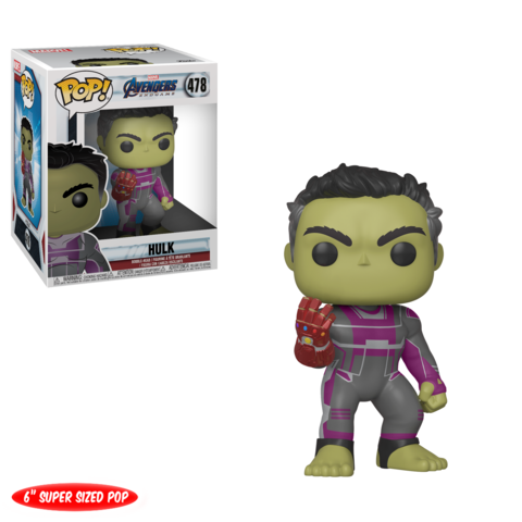 "Avengers Endgame : Hulk 6""With Infinity Gauntlet Pop! Vinyl Figure"