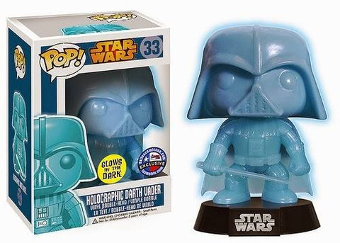 Funko Pop! Holographic Darth Vader Dallas Comic Con GITD Exclusive Vinyl Figure #33