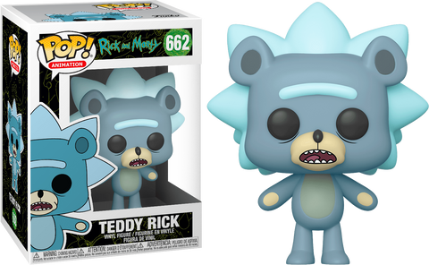 Preorder Rick and Morty Teddy Rick Pop! Vinyl Figure PO P535