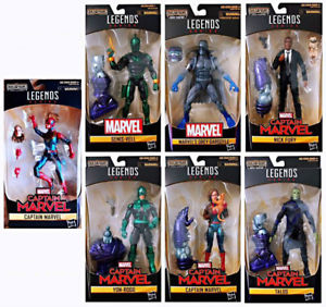 Marvel Legends 2019 Captain Marvel Series Kree Sentry Build-a-Figure Set of 7
