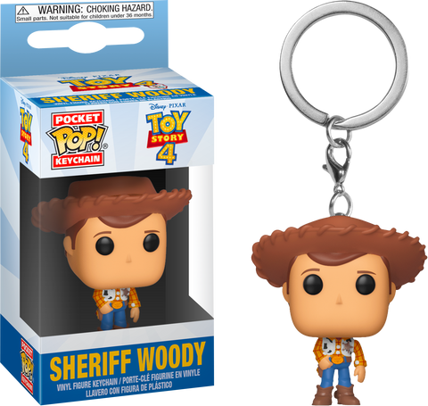 Toy Story Sheriff Woody Pocket Pop! Vinyl Key Chain
