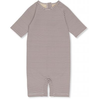 KONGES SLOEJD soleil uv suit striped navy/ecru - Pulu