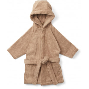 KONGES SLOEJD kids terry bathrobe beige tan