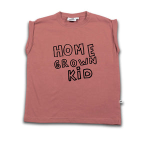 COS I SAID SO home grown kid boxy tee withered rose - Pulu