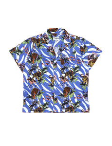 WILDKIND KIDS bong shirt hawaii blue - Pulu