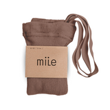 MILE SK tights with braces hazelnut - Pulu