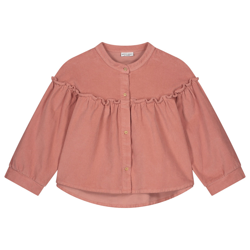 DAILY BRAT tara corduroy shirt light mahogany